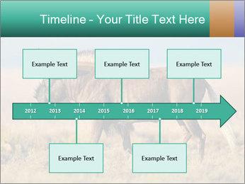 Male black wildebeest PowerPoint Template - Slide 28
