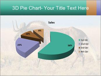 Male black wildebeest PowerPoint Template - Slide 35