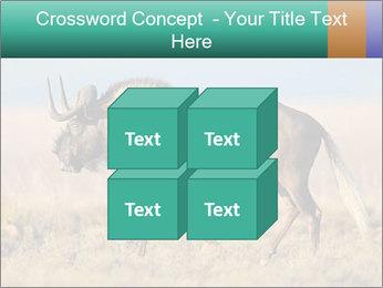 Male black wildebeest PowerPoint Template - Slide 39