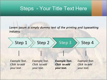 Male black wildebeest PowerPoint Template - Slide 4