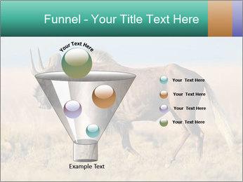Male black wildebeest PowerPoint Template - Slide 63