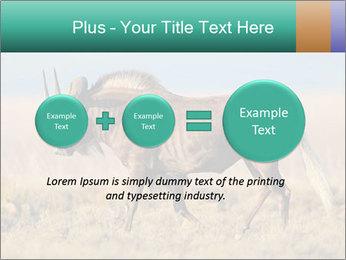 Male black wildebeest PowerPoint Template - Slide 75