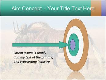 Male black wildebeest PowerPoint Template - Slide 83