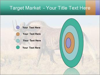 Male black wildebeest PowerPoint Template - Slide 84