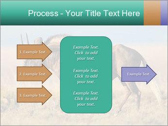Male black wildebeest PowerPoint Template - Slide 85
