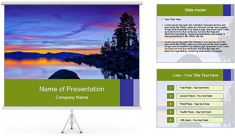 Lake Tahoe Sunset PowerPoint Template