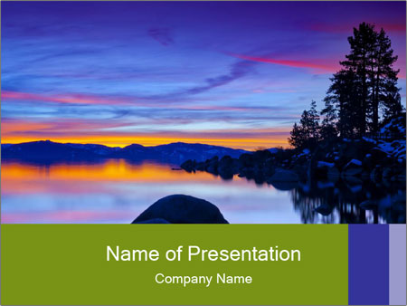 Lake Tahoe Sunset PowerPoint Templates