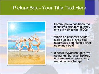 Lake Tahoe Sunset PowerPoint Templates - Slide 13