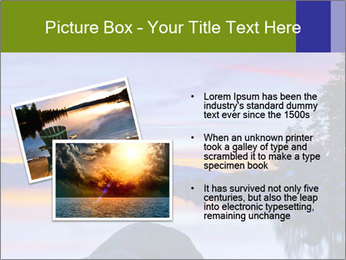 Lake Tahoe Sunset PowerPoint Template - Slide 20