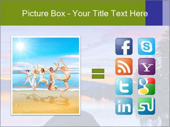 Lake Tahoe Sunset PowerPoint Templates - Slide 21