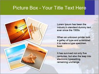 Lake Tahoe Sunset PowerPoint Template - Slide 23