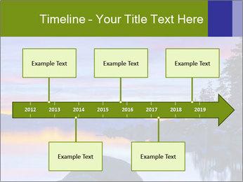 Lake Tahoe Sunset PowerPoint Templates - Slide 28