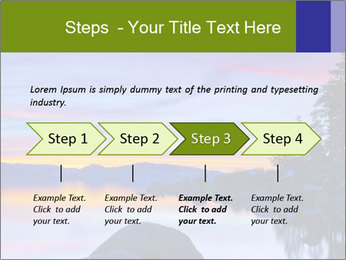 Lake Tahoe Sunset PowerPoint Template - Slide 4