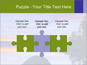 Lake Tahoe Sunset PowerPoint Template - Slide 42