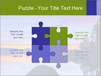 Lake Tahoe Sunset PowerPoint Templates - Slide 43