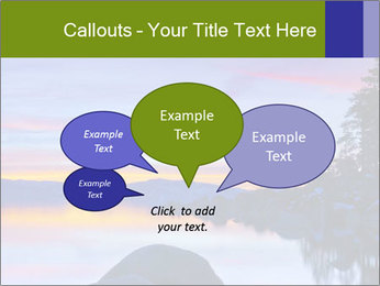 Lake Tahoe Sunset PowerPoint Templates - Slide 73