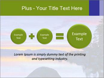 Lake Tahoe Sunset PowerPoint Templates - Slide 75