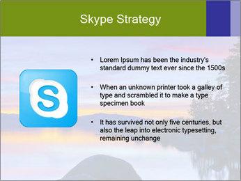 Lake Tahoe Sunset PowerPoint Template - Slide 8