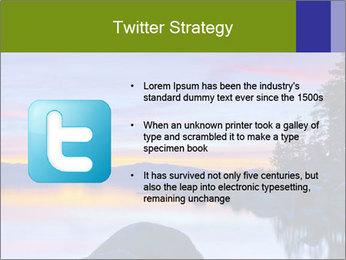 Lake Tahoe Sunset PowerPoint Templates - Slide 9