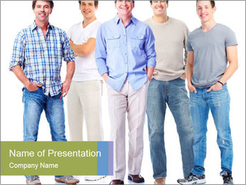 Group of men PowerPoint Templates - Slide 1