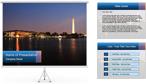 Washington Monument PowerPoint Template