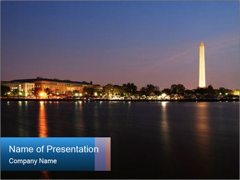 Washington Monument PowerPoint Template - Slide 1