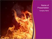 Fire flames PowerPoint Templates