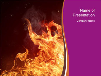 Fire flames PowerPoint Templates - Slide 1