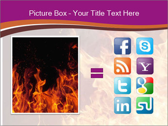 Fire flames PowerPoint Templates - Slide 21