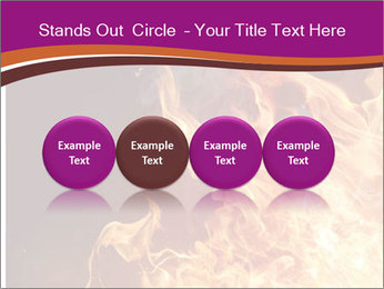 Fire flames PowerPoint Templates - Slide 76