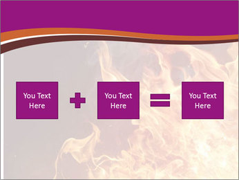Fire flames PowerPoint Templates - Slide 95
