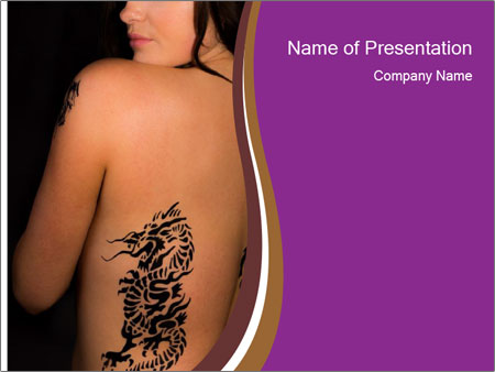 Sexy topless girl PowerPoint Templates