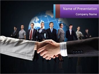 Business handshake against PowerPoint Template