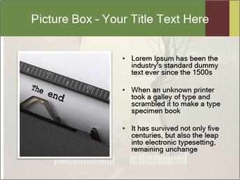 Vintage Vector Typewriter PowerPoint Template - Slide 13