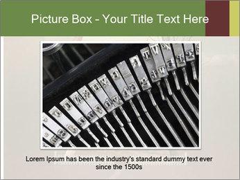 Vintage Vector Typewriter PowerPoint Template - Slide 15