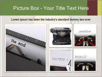 Vintage Vector Typewriter PowerPoint Template - Slide 19