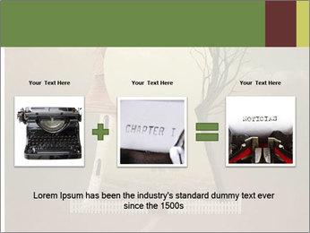 Vintage Vector Typewriter PowerPoint Template - Slide 22
