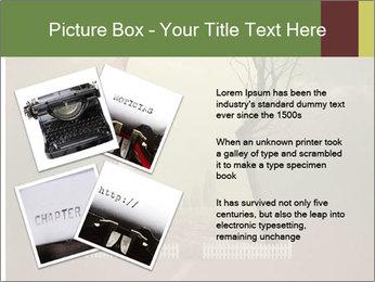 Vintage Vector Typewriter PowerPoint Template - Slide 23