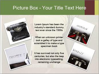 Vintage Vector Typewriter PowerPoint Template - Slide 24