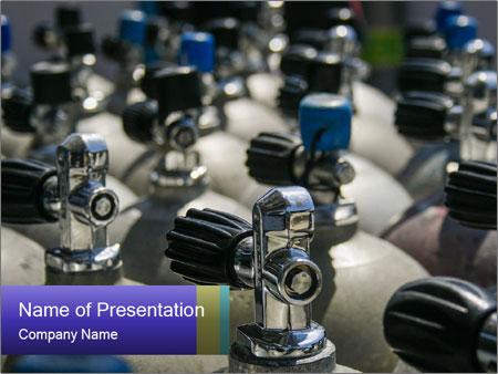 Scuba air tanks PowerPoint Templates