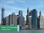 Manhattan skyline PowerPoint Templates