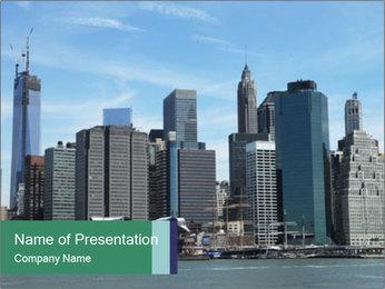 Manhattan skyline PowerPoint Template - Slide 1