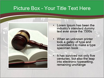 Handcuffs and judge gavel on brown wooden PowerPoint Templates - Slide 13