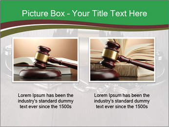 Handcuffs and judge gavel on brown wooden PowerPoint Templates - Slide 18