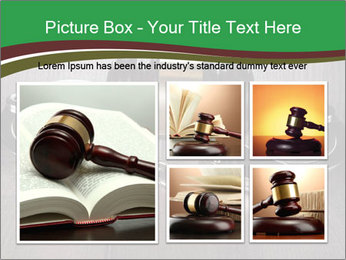 Handcuffs and judge gavel on brown wooden PowerPoint Templates - Slide 19