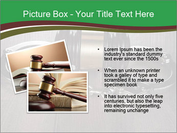 Handcuffs and judge gavel on brown wooden PowerPoint Templates - Slide 20
