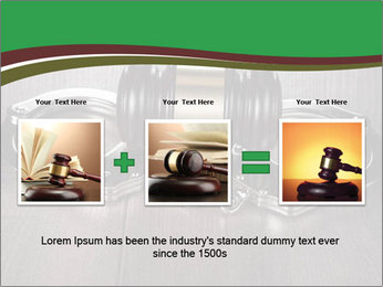 Handcuffs and judge gavel on brown wooden PowerPoint Templates - Slide 22