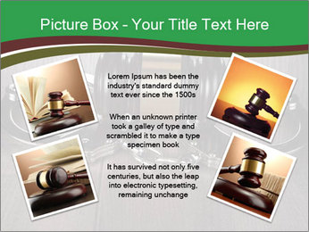 Handcuffs and judge gavel on brown wooden PowerPoint Templates - Slide 24