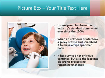 Girl with a doctor PowerPoint Template - Slide 13