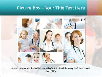 Girl with a doctor PowerPoint Template - Slide 15